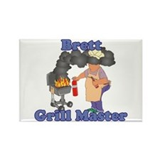 Grill Master Brett Rectangle Magnet