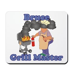 Grill Master Bruce Mousepad