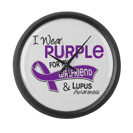 I Wear Purple 42 Lupus Large Wall Clock