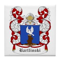 Bartlinski Coat of Arms Tile Coaster
