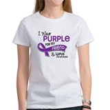 I wear purple for my daughter in law and lupus Women's T-Shirt