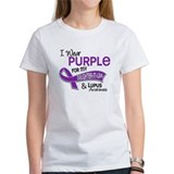 I wear purple for my cousin and lupus awareness Women's T-Shirt