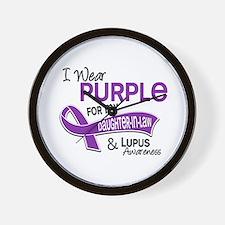 I Wear Purple 42 Lupus Wall Clock