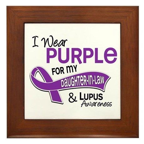 I Wear Purple 42 Lupus Framed Tile