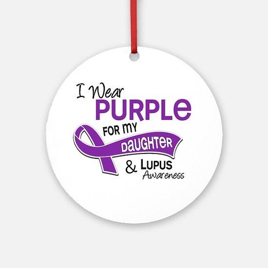 I Wear Purple 42 Lupus Ornament (Round)