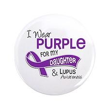 "I Wear Purple 42 Lupus 3.5"" Button (100 pack)"