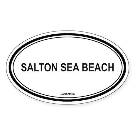 Salton Sea Beach oval Oval Sticker