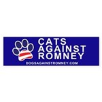 Official DAR Cats Against Romney Paw sticker