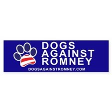 Official Dogs Against Romney Paw bumper sticker