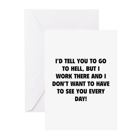Go To Hell Greeting Cards (Pk of 10)