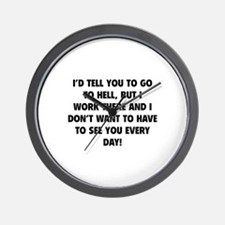 Go To Hell Wall Clock
