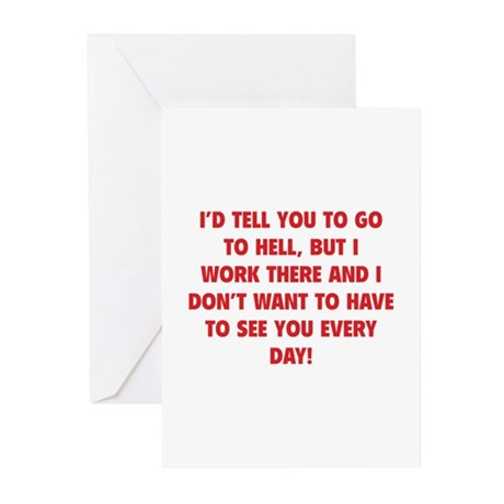 Go To Hell Greeting Cards (Pk of 20)