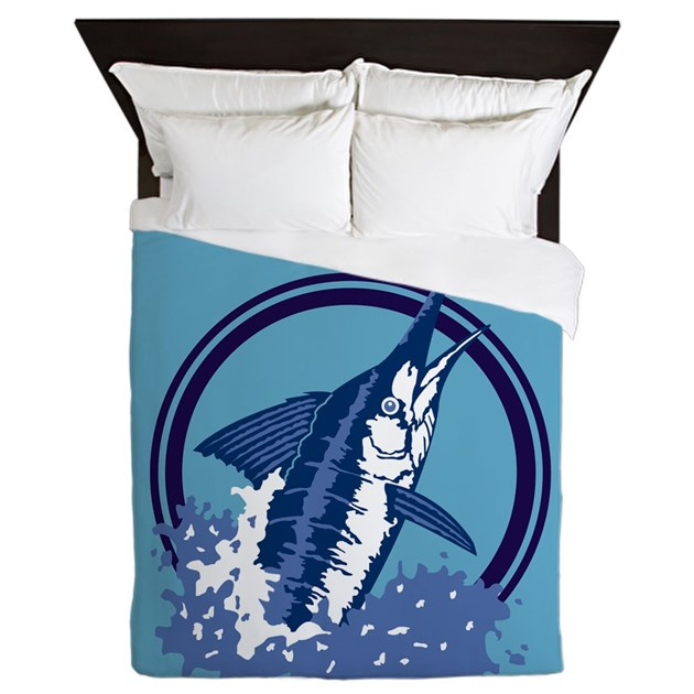 Blue Marlin Queen Duvet By Iloveyou1