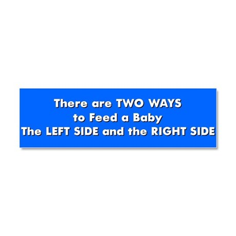 Two ways to feed a baby Car Magnet 10 x 3