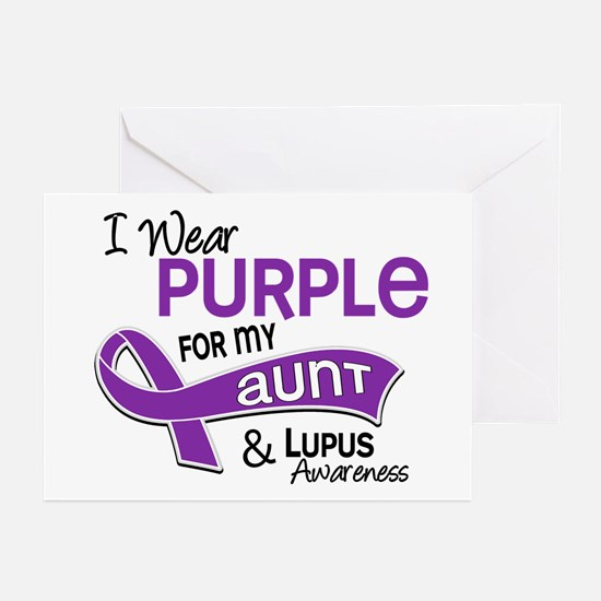I Wear Purple 42 Lupus Greeting Cards (Pk of 10)