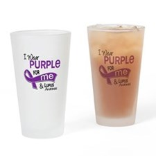 I Wear Purple 42 Lupus Drinking Glass