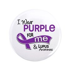 "I Wear Purple 42 Lupus 3.5"" Button"