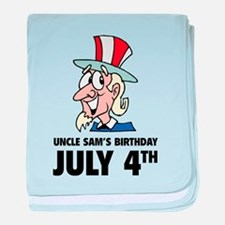 Uncle Sam's Birthday baby blanket