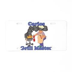 Grill Master Carlos Aluminum License Plate