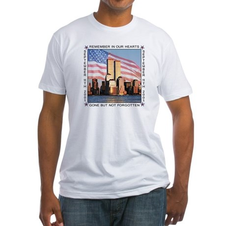 9/11 memorial Fitted T-Shirt