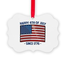 Happy 4th Of July Ornament