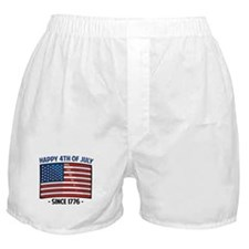 Happy 4th Of July Boxer Shorts