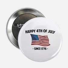 """Happy 4th Of July 2.25"""" Button (10 pack)"""