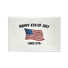 Happy 4th Of July Rectangle Magnet (100 pack)