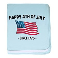 Happy 4th Of July baby blanket