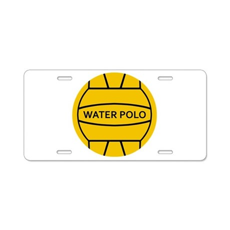 Water Polo Aluminum License Plate