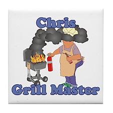Grill Master Chris Tile Coaster