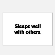 Sleeps well with others Postcards (Package of 8)