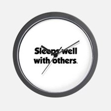 Sleeps well with others Wall Clock