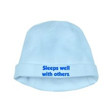 Sleeps well with others baby hat