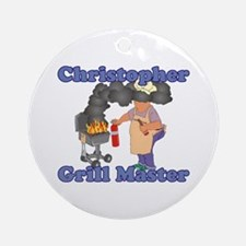 Grill Master Christopher Ornament (Round)