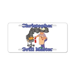 Grill Master Christopher Aluminum License Plate