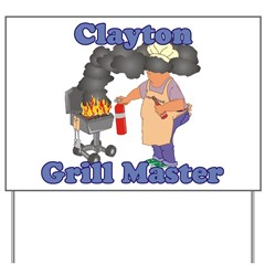 Grill Master Clayton Yard Sign