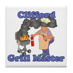 Grill Master Clifford Tile Coaster