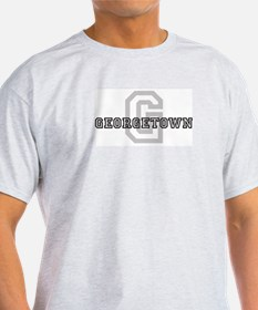 Georgetown (Big Letter) Ash Grey T-Shirt