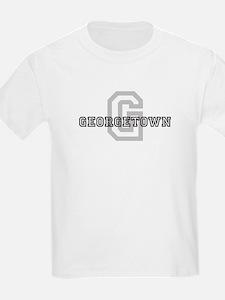 Georgetown (Big Letter) Kids T-Shirt