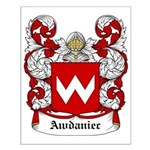 Awdaniec Coat of Arms Small Poster