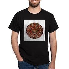 Aztec Calendar Black T-Shirt