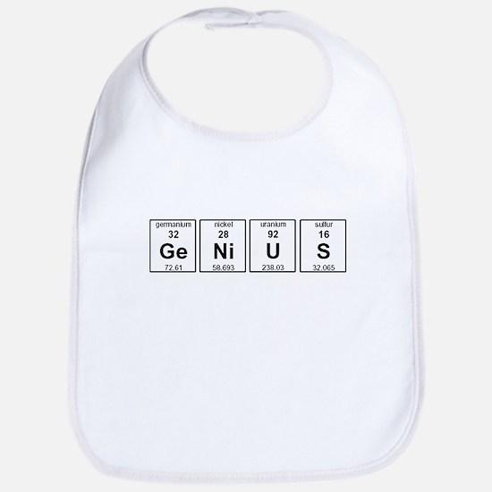 Genius Element Symbols Bib