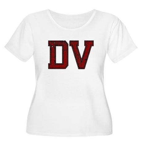 DV, Vintage Women's Plus Size Scoop Neck T-Shirt