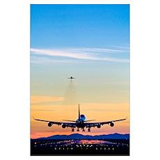 Aeroplane landing, Canada Poster