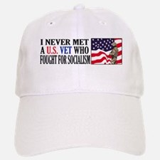 I Never Met A US Vet Who Fought For Socialism Baseball Baseball Cap