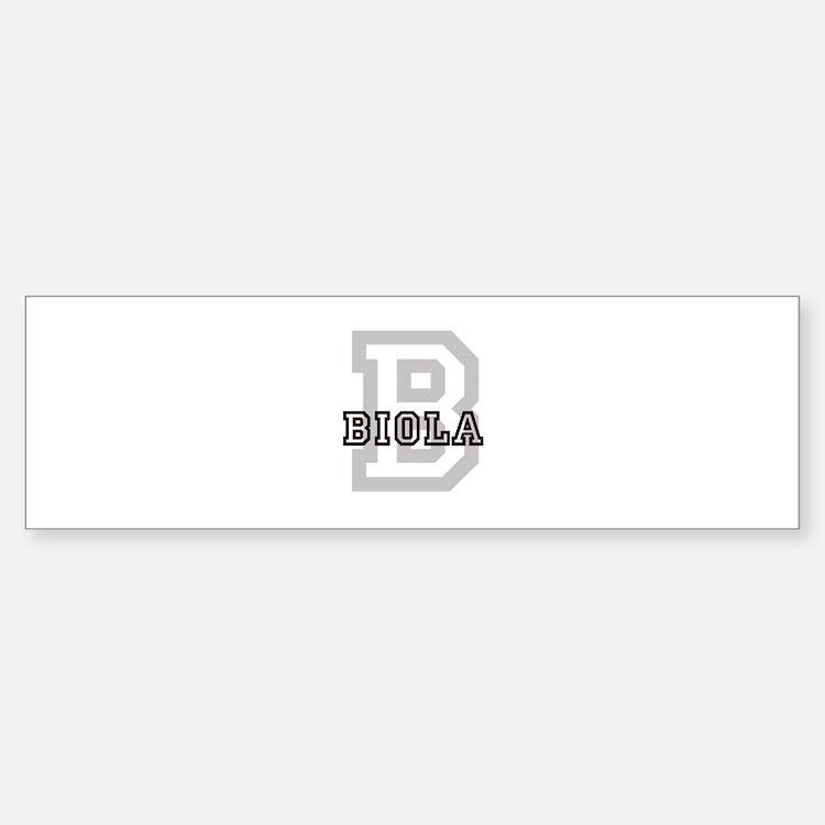 Biola (Big Letter) Bumper Bumper Bumper Sticker