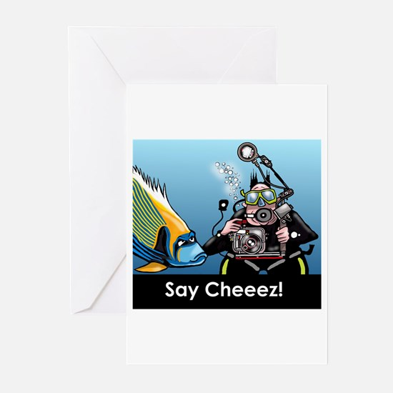 Scuba greeting Greeting Cards (Pk of 10)