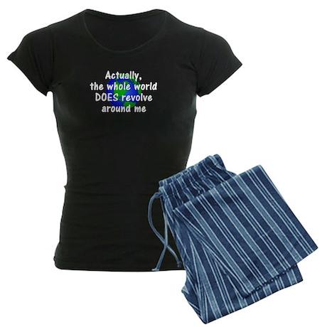World Revolves Around Me Women's Dark Pajamas