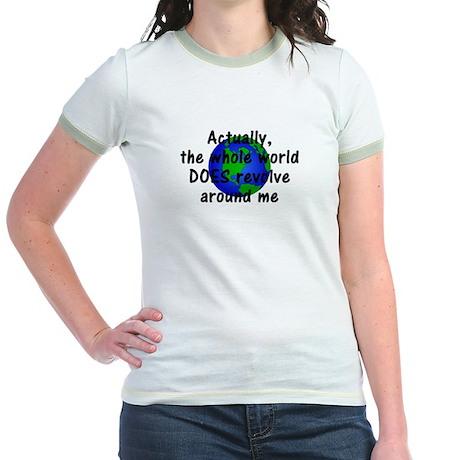 World Revolves Around Me Jr. Ringer T-Shirt